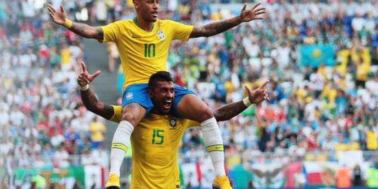 Neymar leidt Brazilië voorbij Mexico