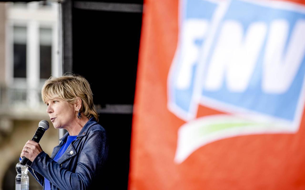 Vicevoorzitter Kitty Jong van de FNV.