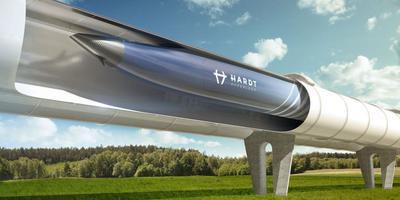 Artistieke impressie van de hyperloop.