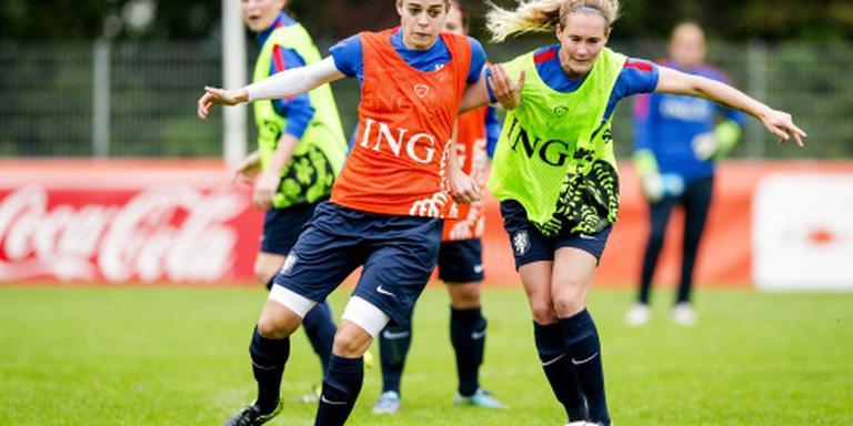 Oranjevrouwen oefenen tweemaal tegen Denen