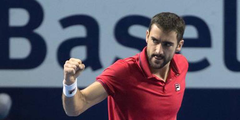 Tennisser Cilic pakt toernooizege in Basel
