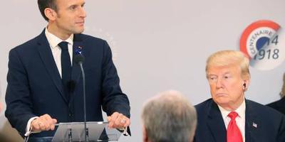 Macron pleit voor 'respect' na kritiek Trump