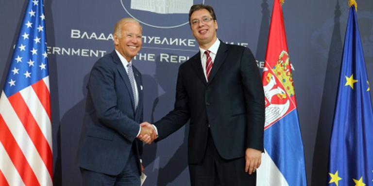 Condoleances Biden voor Servische doden 1999