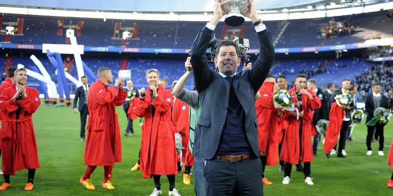 FC Groningen won in mei de KNVB beker in de Rotterdamse Kuip. FOTO JAN KANNING