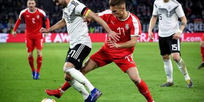 Duitsland gelijk tegen Servië: 1-1