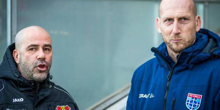 Bosz wint met Leverkusen van PEC van Stam