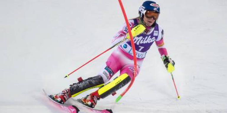 Shiffrin blijft winnen op de slalom