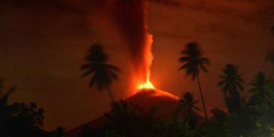 Vulkaanuitbarsting op Sulawesi
