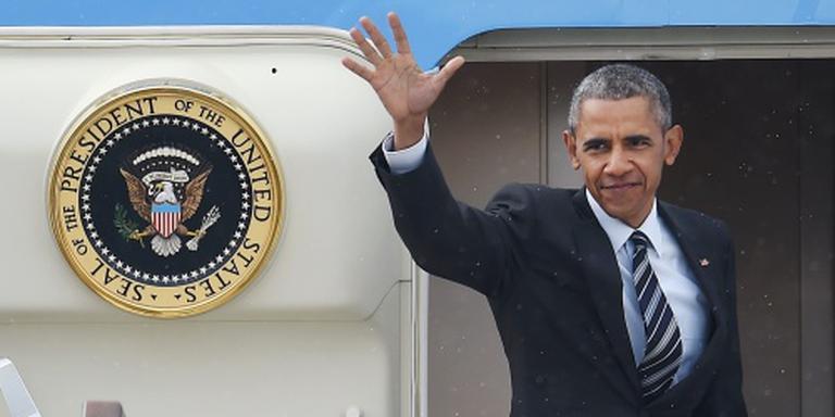Obama in Hannover aangekomen