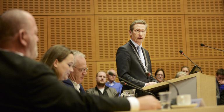 Burgemeester Jan Westmaas van Meppel.