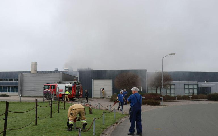 Brand bij verpakkingsfabriek Grootegast