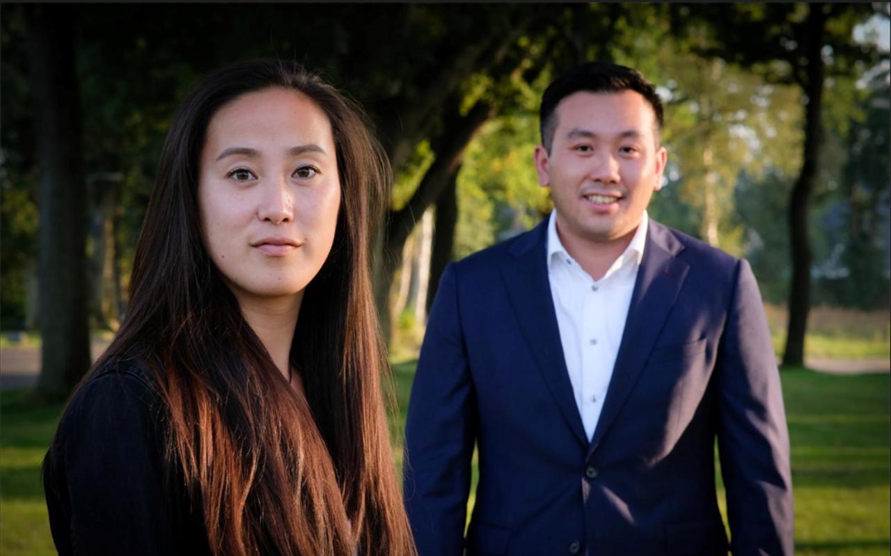 Jingliu Poelstra en Wei lun Lam van de belangenorganisatie Asian Raisin.