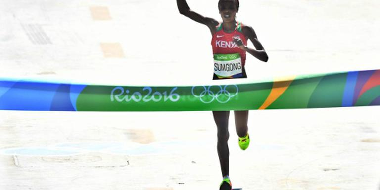 Goud op marathon naar Keniaanse Sumgong