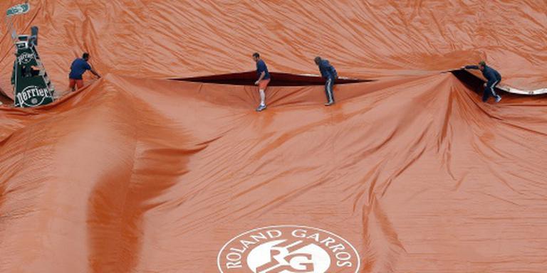 Tennis weer onderbroken op Roland Garros