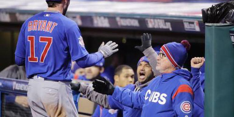 Honkballers Chicago Cubs trekken stand gelijk