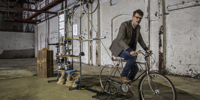 Een paar minuten fietsen voor een duurzaam kopje koffie