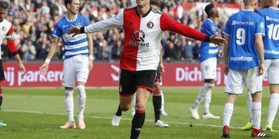 Feyenoord imponeert niet, maar wint wel ruim