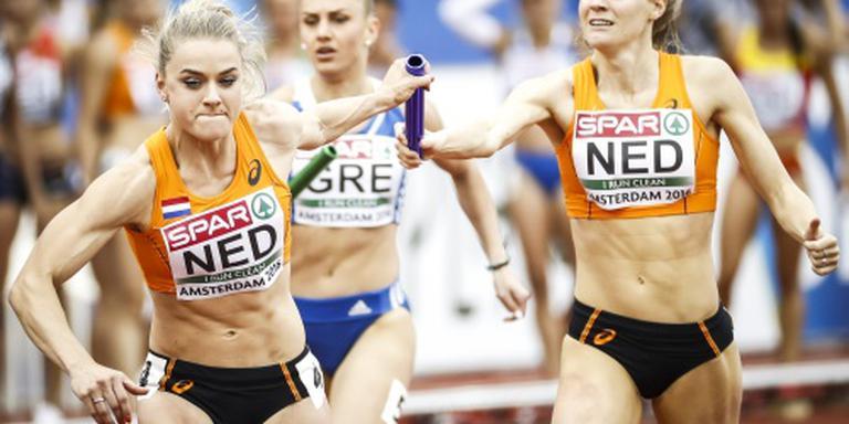 Vrouwen zevende op 4x400 meter estafette