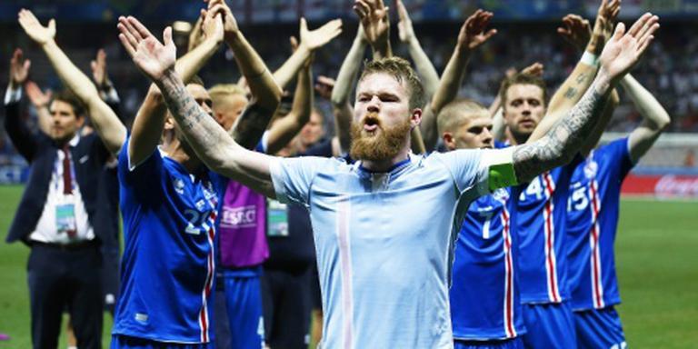 Run op shirts elftal IJsland