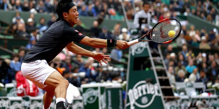 Nishikori uitgeschakeld op Roland Garros