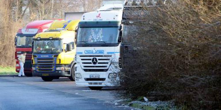 Forse daling berovingen vrachtwagens
