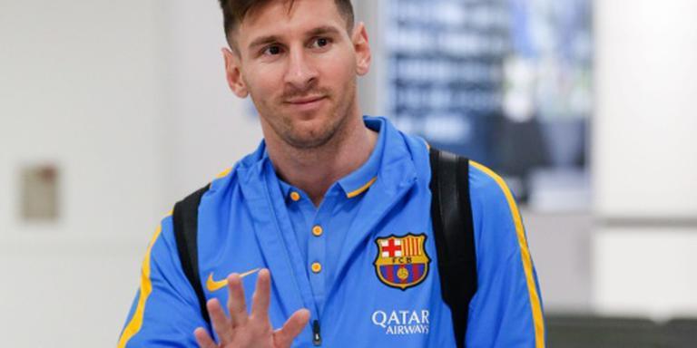 Barcelona traint zonder Messi in Japan