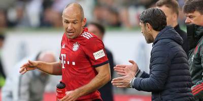 Rode kaart Robben tegen VfL Wolfsburg