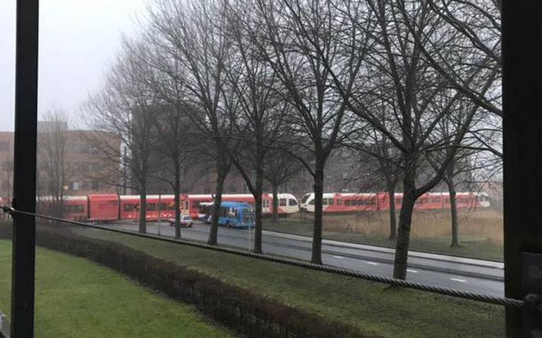 Treinverkeer tussen Groningen en Leeuwarden ligt stil door aanrijding.