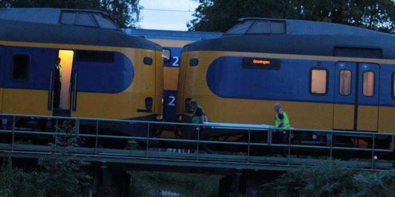 Trein met pech nabij Assen. Foto: Van Oost Media