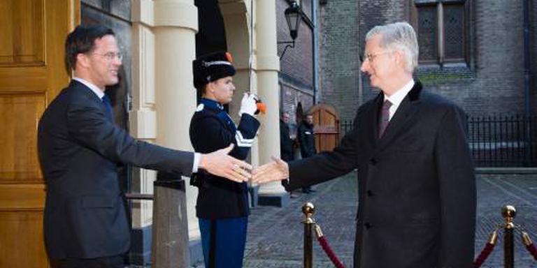 Premier Rutte luncht met Belgische koning