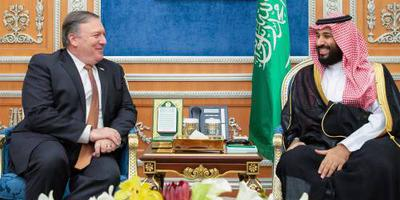 Pompeo spreekt ook kroonprins Bin Salman