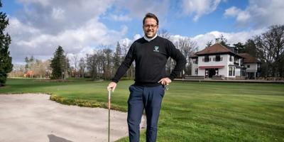 Maurits Noorda op de golfbaan in Glimmen Foto: Jaspar Moulijn