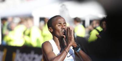 Nageeye weer in marathon Rotterdam