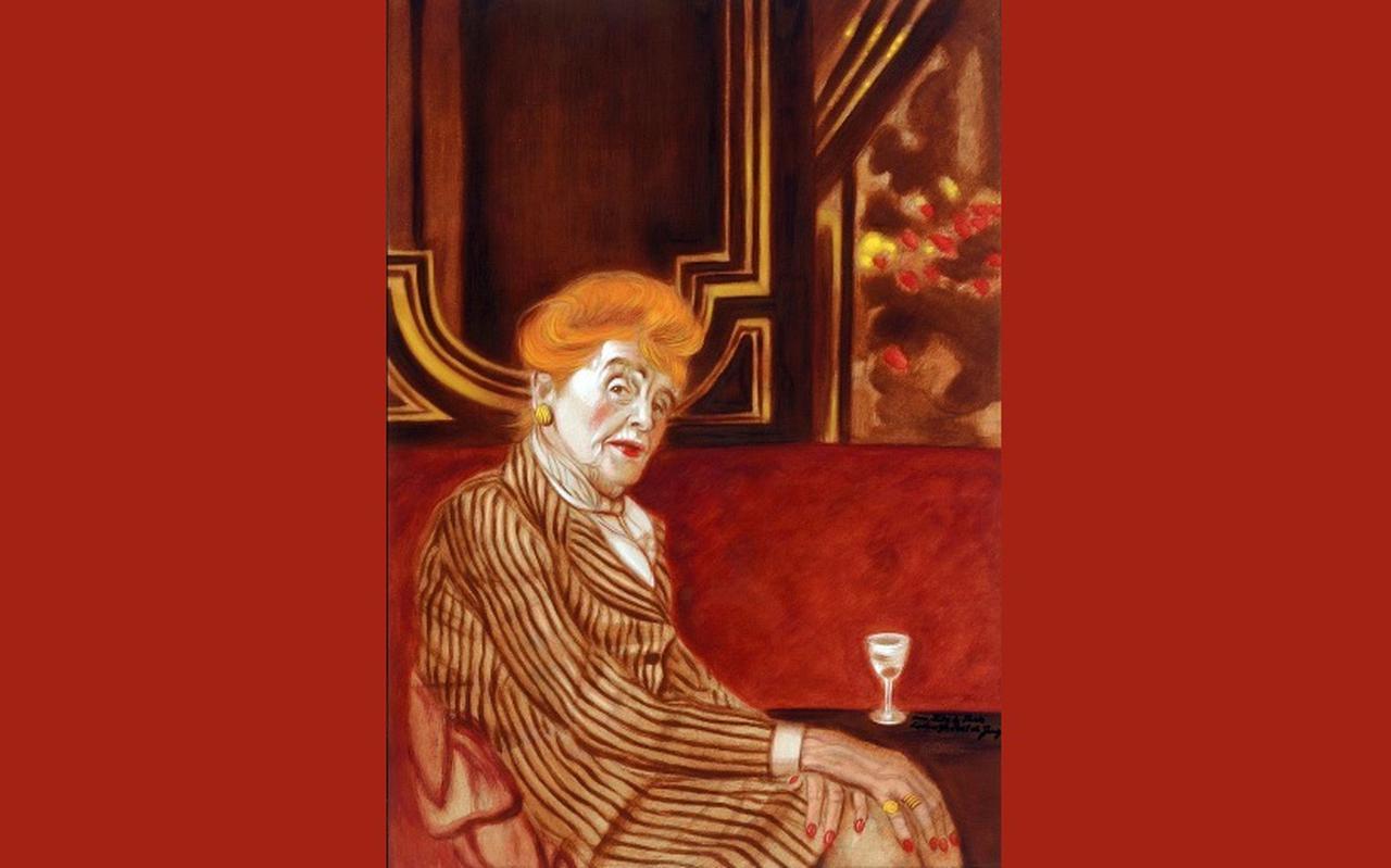 Antoinette de Bach-van Loon (1893-1981) scheidde al na een jaar van haar man, lang voordat dit geaccepteerd was. Portret gemaakt door Lodewijk Post de Jong, 1976