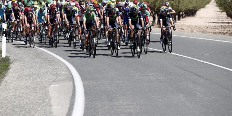 Rojas uit Vuelta na zware val
