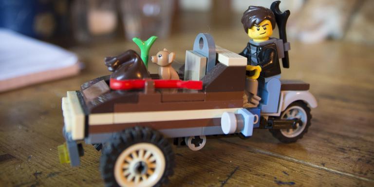 Een bakbrommer van Lego