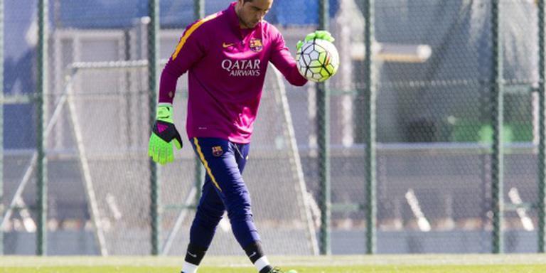 Kuitblessure velt doelman Bravo van Barcelona