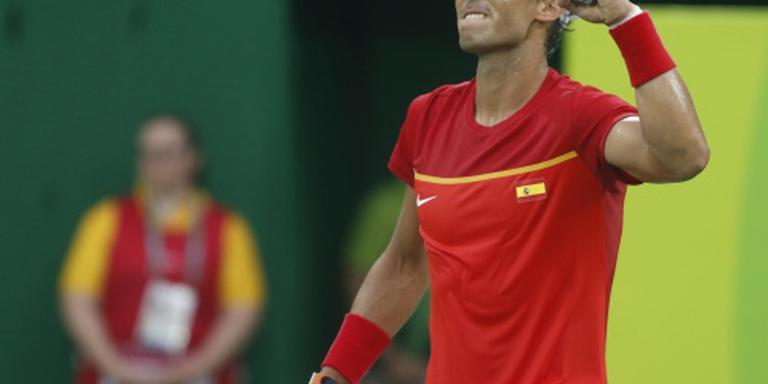Nadal viert terugkeer met winst in Rio