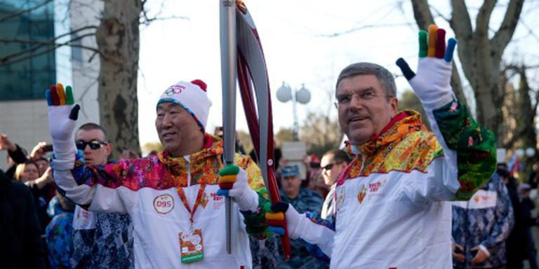 Ban Ki-moon draagt fakkel in Rio