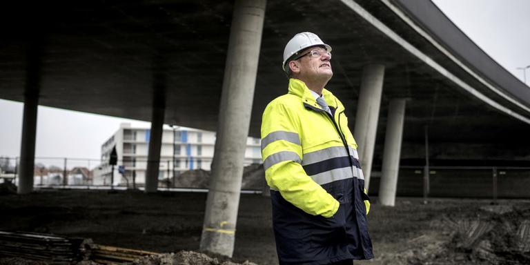 Portret van Harm Beerda. directeur wegenbouwbedrijf Koninklijke Oosterhof Holman. Foto: Siese Veenstra
