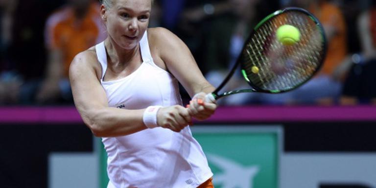 Bertens wint weer in Fed Cup