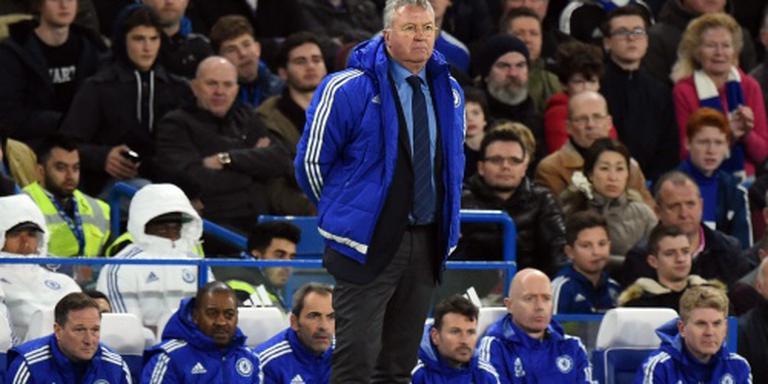 Eerste zege Hiddink met Chelsea