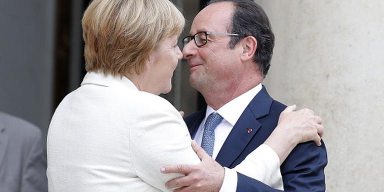 Merkel en Hollande: daden tegen crisis EU