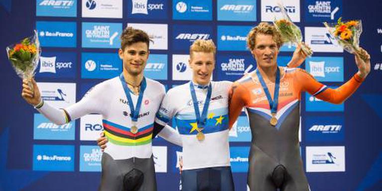 Drie podiumplaatsen op EK baanwielrennen
