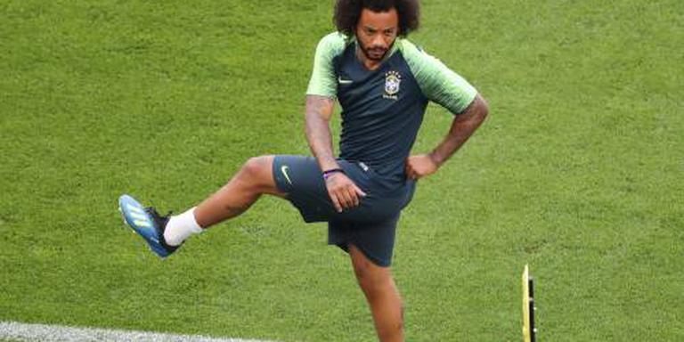 Marcelo tegen Mexico op de bank bij Brazilië