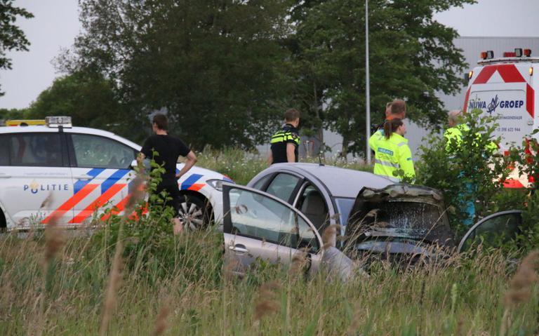 Automobilist gewond bij eenzijdig ongeluk in Veendam.