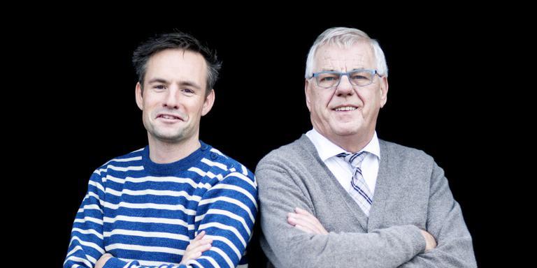Pascal Ontijd (l) en Hennie van der Most. Foto Guus Schoonewille