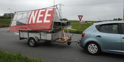 Protest tegen windmolens in Meeden in 2013. Foto: Archief DvhN/Jan Kanning