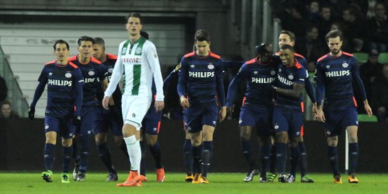PSV verslaat FC Groningen in Euroborg