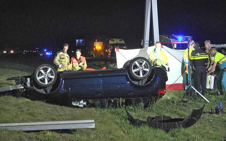 Dode door eenzijdig ongeval op A28 bij Staphorst.